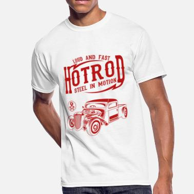 Head Steel In Motion Hotrod Loud And Fast Design - Men's 50/50 T-Shirt