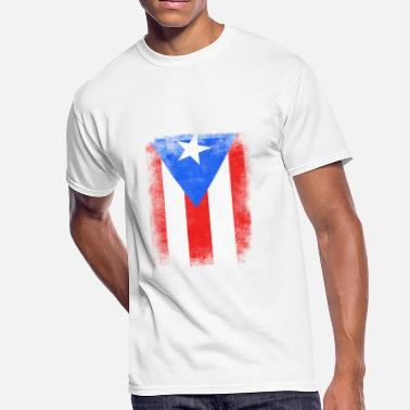 Puerto Rico Kids Puerto Rico State Flag Distressed Vintage Shirt - Men's 50/50 T-Shirt