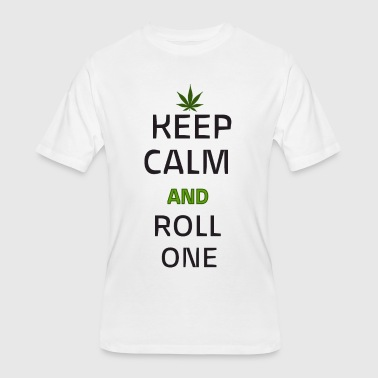 Keep Calm and Roll One - Men's 50/50 T-Shirt