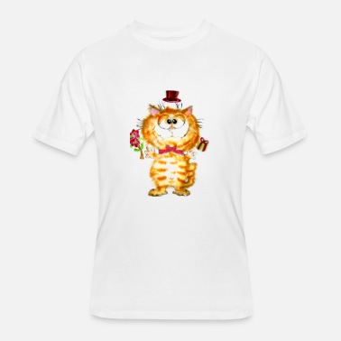 Fluffy Cat Silly Fluffy Cat - Men's 50/50 T-Shirt