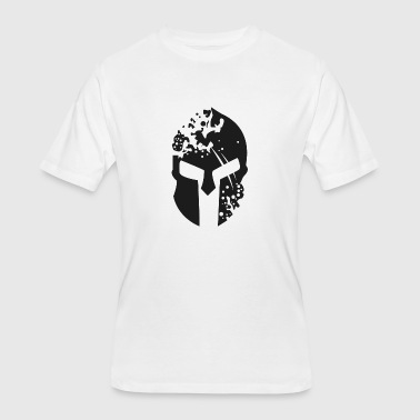 Defense Of The Ancients Spartan Helmet 4 Black - Men's 50/50 T-Shirt
