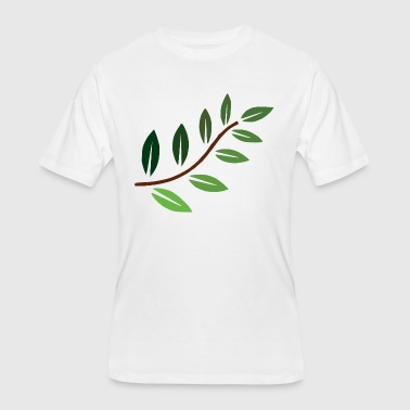 Green Branch Beautiful Multi Shade Green Plant Branch - Men's 50/50 T-Shirt