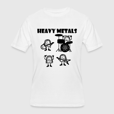 Heavy Metals Band, nerdy science metal - Men's 50/50 T-Shirt