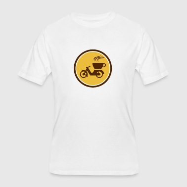 Coffees Motorcycles Coffee Delivery Motorcycle Circle Retro - Men's 50/50 T-Shirt