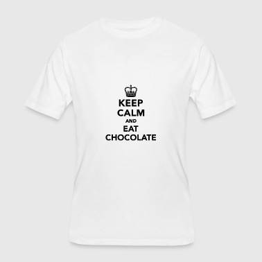 Keep calm and eat chocolate - Men's 50/50 T-Shirt