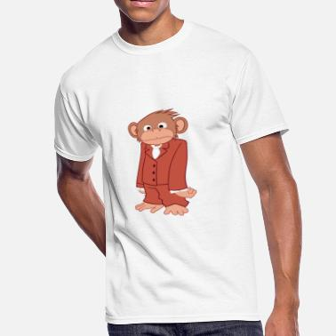 Ape Monkey Nerd Monkey Chimp Gorilla Chimpanzee Ape Simian - Men's 50/50 T-Shirt