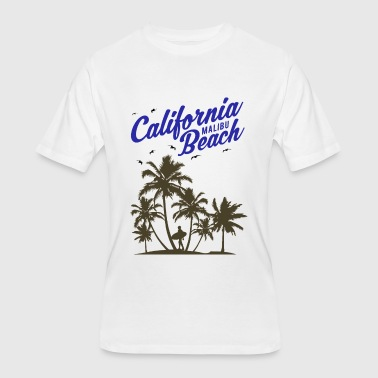 California Malibu Beach - Men's 50/50 T-Shirt