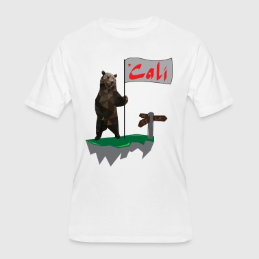 Cali Bear - Men's 50/50 T-Shirt