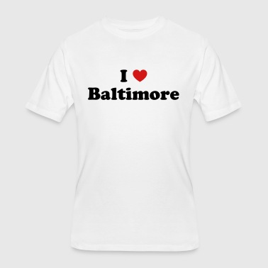 I Love Baltimore I love Baltimore - Men's 50/50 T-Shirt