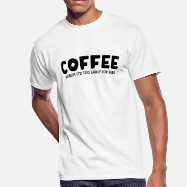 Caffeine Grumpy In The Morning Funny Coffee Beer Morning Caffeine Alcohol gift - Men's 50/50 T-Shirt