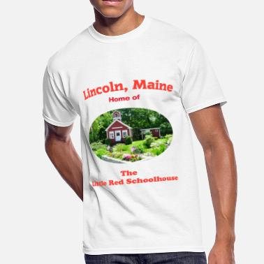 Lincoln Maine SchoolhouseTShirtOval - Men's 50/50 T-Shirt