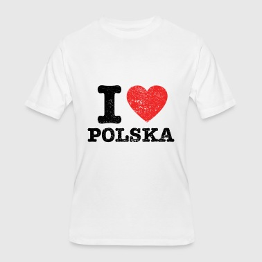 I Love Polska Gift - Men's 50/50 T-Shirt