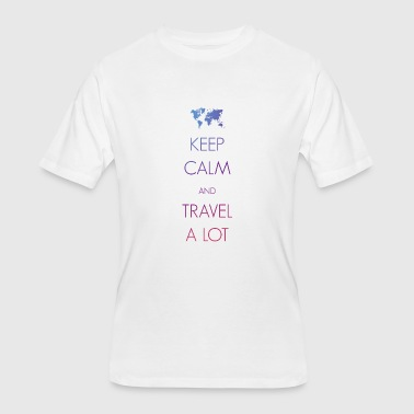 Tourism Keep calm and travel a lot - Men's 50/50 T-Shirt