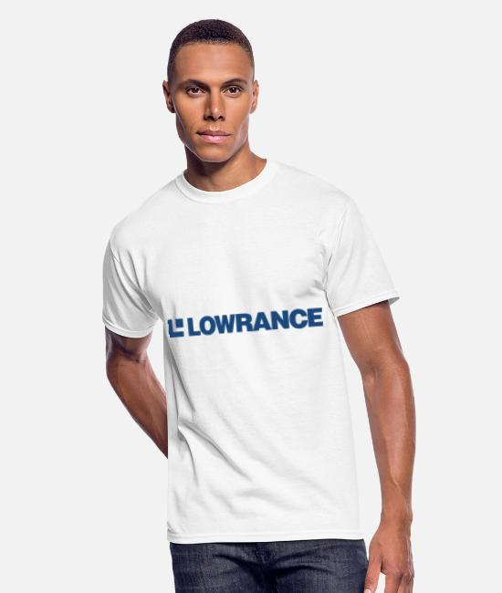 Lowrance T-Shirts - Lowrance Electronics Long Sleeve Microfiber - Men's 50/50 T-Shirt white
