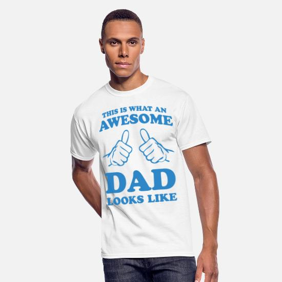 Awesome T-Shirts - This Is What An Awesome Dad Looks Like - Men's 50/50 T-Shirt white