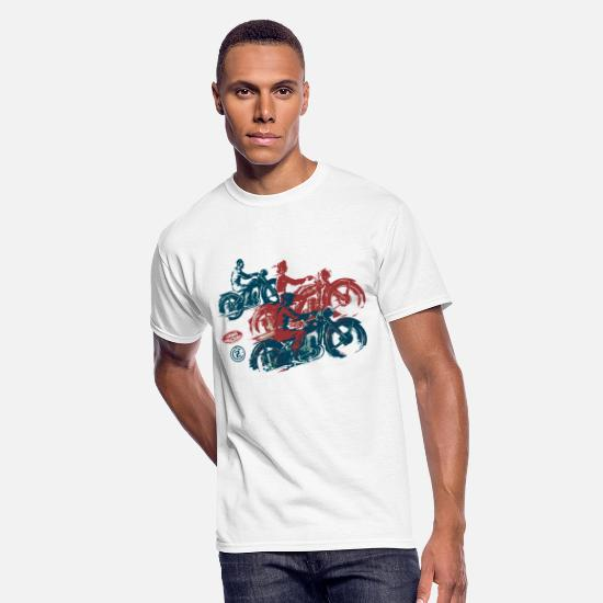 Motorcycle T-Shirts - moto two stroke - Men's 50/50 T-Shirt white