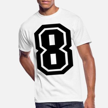 Number 8 Black/White - Men's 50/50 T-Shirt