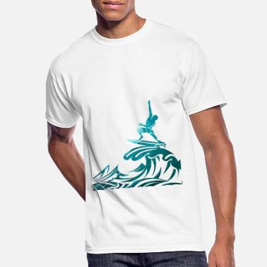 560e6295def2 Wave Riding Double exposure - Men's 50/50 T-Shirt