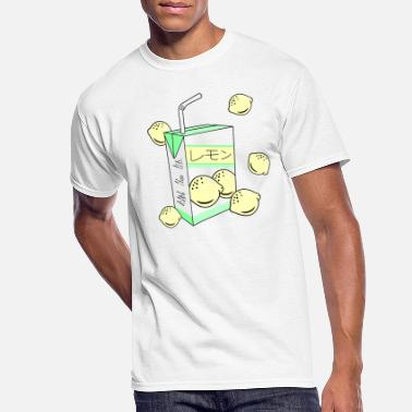 Aesthetic Japanese Lemon Juice Box 90s Aesthetic Pastel - Men's 50/50 T-Shirt