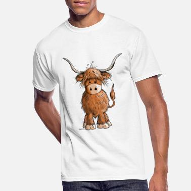 Highland Cute Highland cattle - Cow - Cartoon - Gift - Men's 50/50 T-Shirt