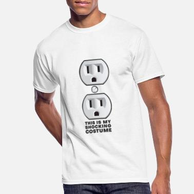 Outlet Electrical Outlet Plug Shocking Halloween Outfit - Men's 50/50 T-Shirt