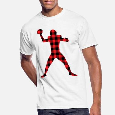 American Football Sport Plaid pattern - Men's 50/50 T-Shirt