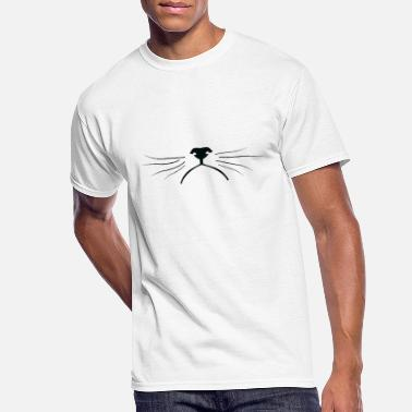 Bobcat Grumpy cat's face with mustaches - Men's 50/50 T-Shirt