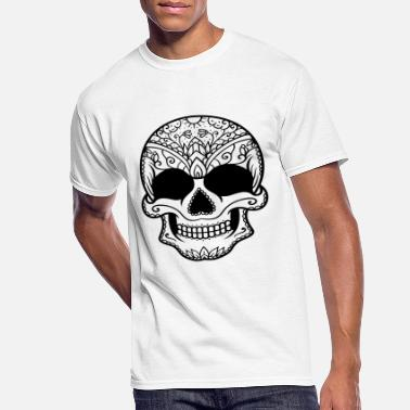 Crossed Bones Skull flowers - Men's 50/50 T-Shirt