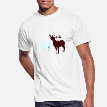 Red Deer red deer silhouettes - Men's 50/50 T-Shirt