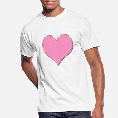 Pink Heart Pink Heart - Men's 50/50 T-Shirt