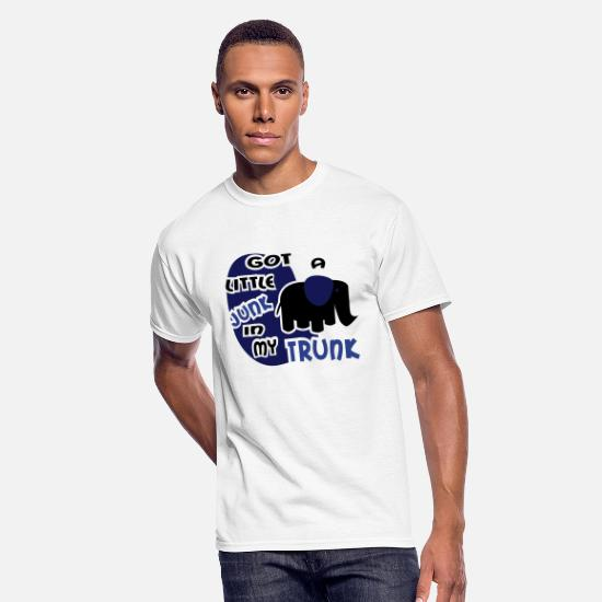 Love T-Shirts - Got A Little Junk In My Trunk With Elephant - Men's 50/50 T-Shirt white