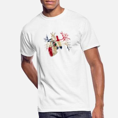 Dominican Republic Dominican Republic Flag in Real heart - Men's 50/50 T-Shirt