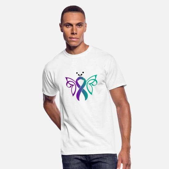 Prevention T-Shirts - Suicide Butterfly Gradient - Men's 50/50 T-Shirt white