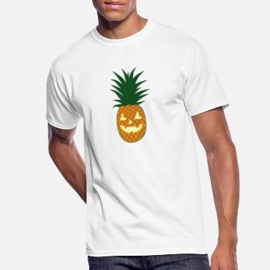 Carved Pineapple Hawaiian Halloween - Men's 50/50 T-Shirt