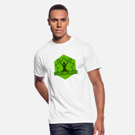 Save The World T-Shirts - clean and green, Earth Day - Men's 50/50 T-Shirt white