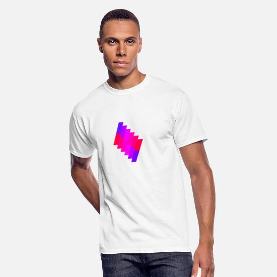 Purple T-Shirts - purple-pink color change - Men's 50/50 T-Shirt white