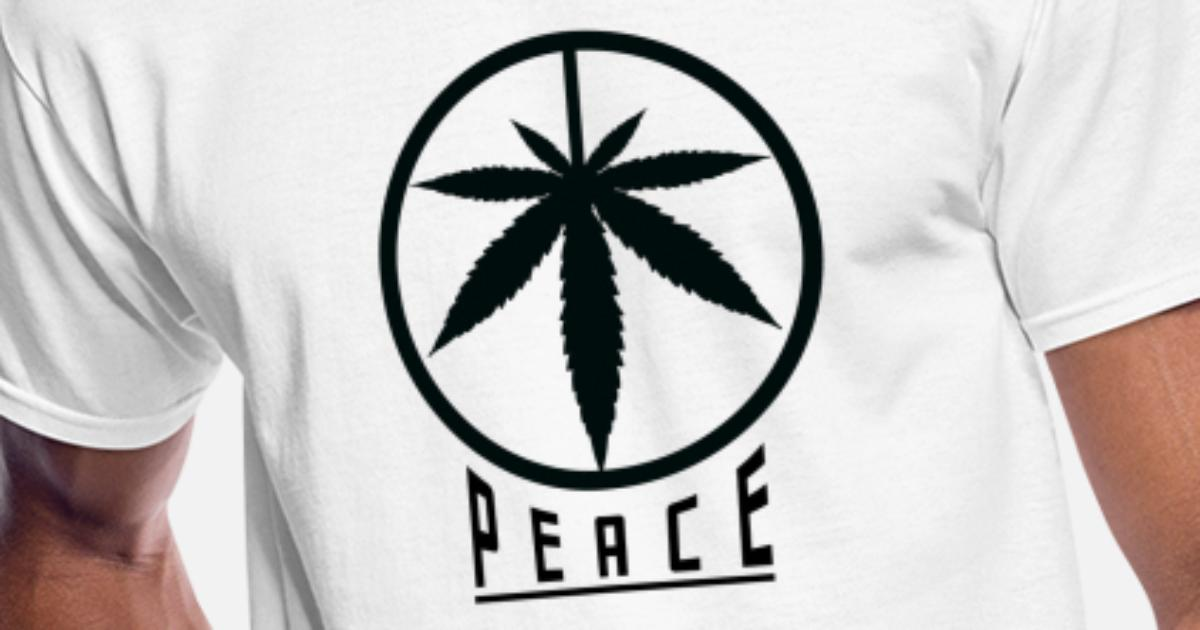 Chilled Out Hippy Smoking A Spliff Mens Funny T-Shirt Peace Love Weed
