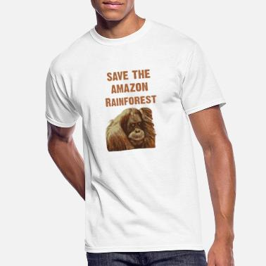 Orang Utan Save The Amazonas Rainforest - Men's 50/50 T-Shirt