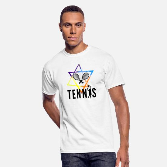 Love T-Shirts - Tennis - Men's 50/50 T-Shirt white
