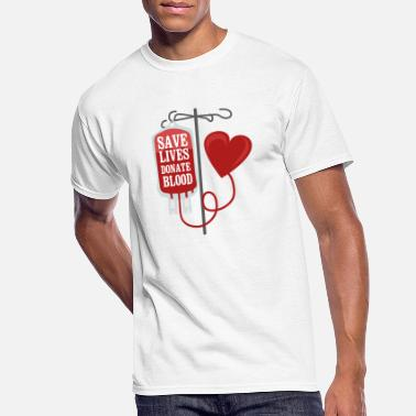 Donation Save lives donate blood - Men's 50/50 T-Shirt