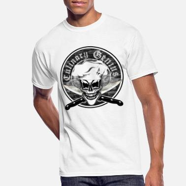 Chef Skull 6: Culinary Genius - Men's 50/50 T-Shirt