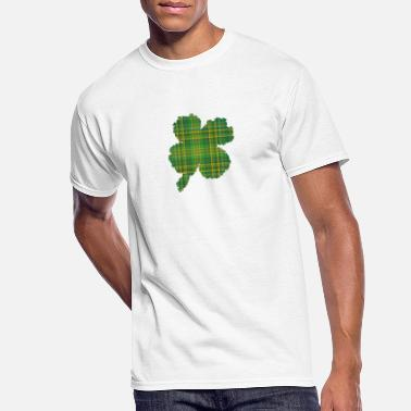 Cloverleaf Tartan I St Patricks Day Gift - Men's 50/50 T-Shirt
