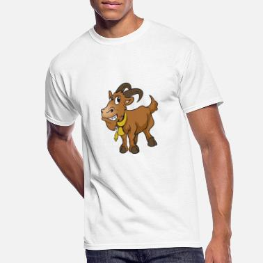 Billy Goat Cute Funny Cool Billy-Goat Goat - Men's 50/50 T-Shirt