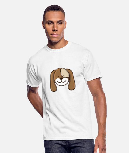 Daily T-Shirts - Dog icon - Men's 50/50 T-Shirt white