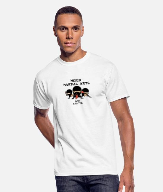 Game T-Shirts - Mixed Martial Arts and Crafts - Men's 50/50 T-Shirt white