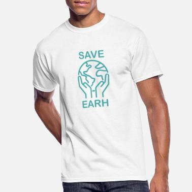 Planet Earth save planet earth - Men's 50/50 T-Shirt