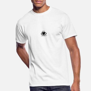 Black and white eye logo - Men's 50/50 T-Shirt