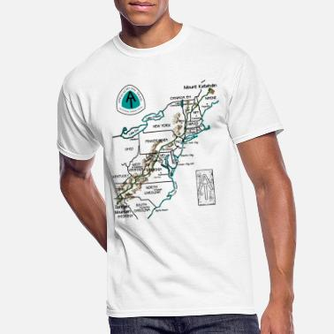 Great Smoky Mountain Appalachian National Scenic Trail Map AT Map - Men's 50/50 T-Shirt