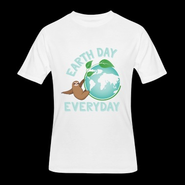Earth Day Everyday Sloth Green Planet Every Day Earth Day - Men's 50/50 T-Shirt