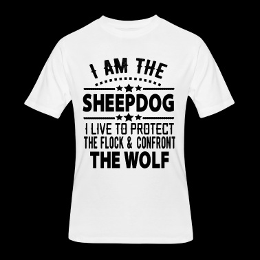 I AM THE sheepdog i live to protect the flock - Men's 50/50 T-Shirt